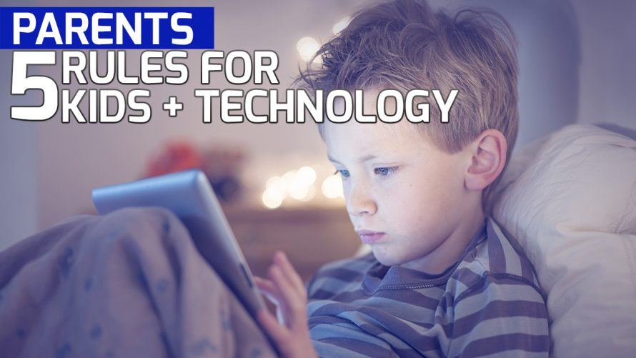 Little boy distracted by social media - 5 tips for parents